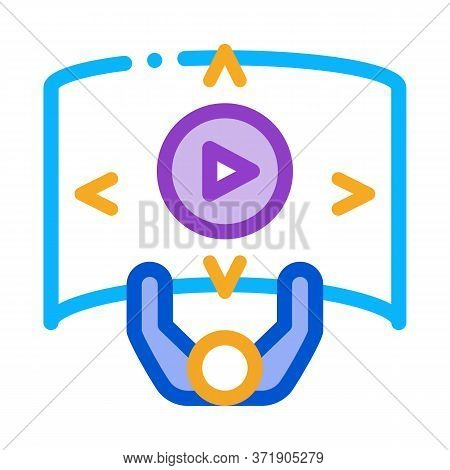 Comprehensive Choice Man Icon Vector. Comprehensive Choice Man Sign. Color Symbol Illustration