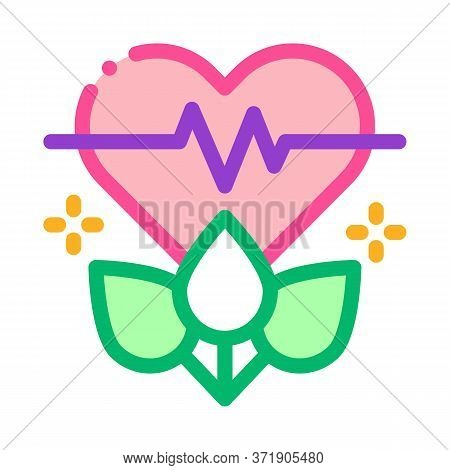 Plant For Restoration Of Heart Icon Vector. Plant For Restoration Of Heart Sign. Color Symbol Illust
