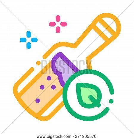 Bottle With Organic Elixir Icon Vector. Bottle With Organic Elixir Sign. Color Symbol Illustration