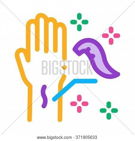 Application Of Leeches On Arm Icon Vector. Application Of Leeches On Arm Sign. Color Symbol Illustra