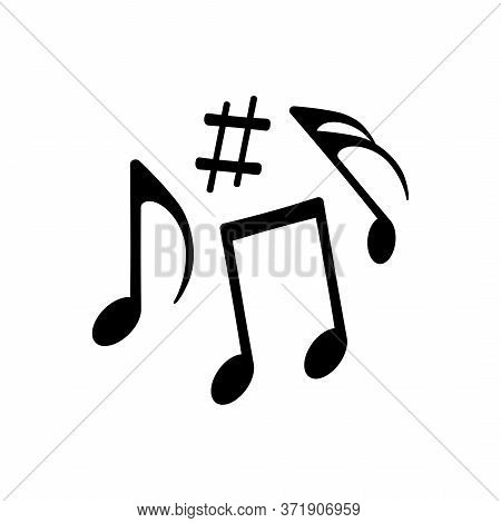 Music Notes Icon Isolated On White Background. Vector Illustration