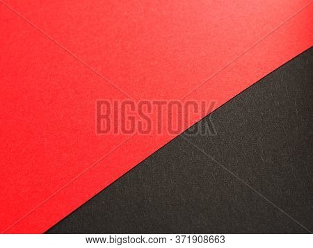 Empty Red And Black Colored Paper Background Texture, Two Tones, Concept For Image, Text, Design.