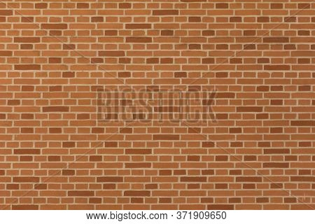 Stable Stone Wall With Many Rows Of Crafted Masonry Stones. Brickwork With Individual Craft Bricks P