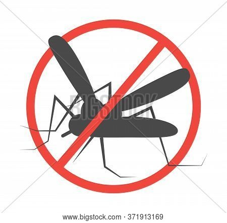 Stop Zika And Malaria Sign Illustration. Insect Prevention Icon. Protection Against Insects And Dang