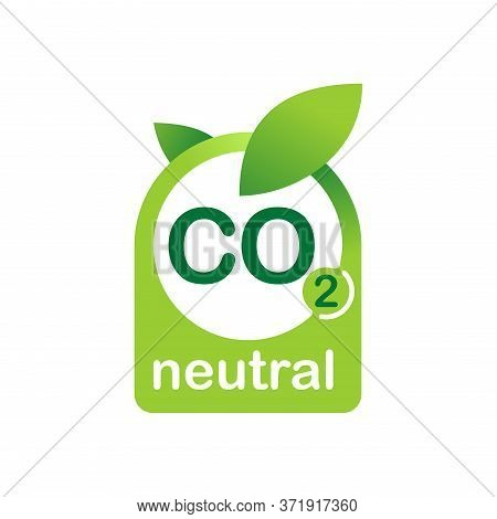 Co2 Neutral Eco Stamp - Carbon Emissions Free (no Air Pollution) Industrial Production Eco-friendly