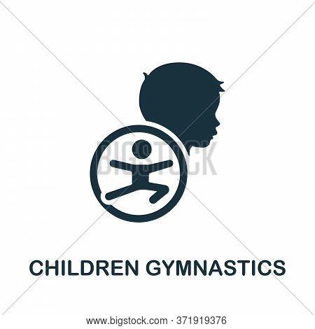 Children Gymnastics Icon. Simple Element From Child Development Collection. Creative Children Gymnas