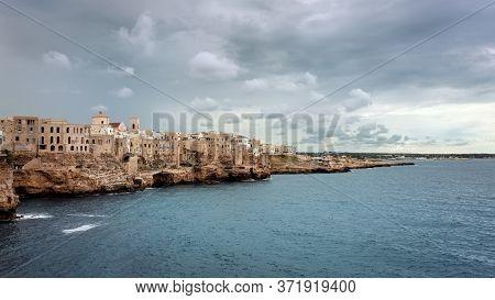 Panoramic View Of Polignano A Mare, Puglia, Italy