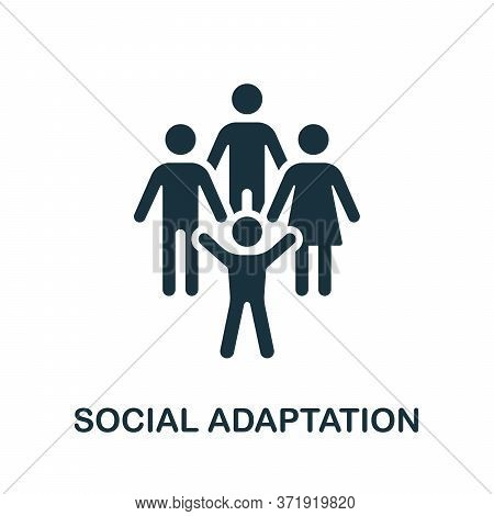 Social Adaptation Icon. Simple Element From Child Development Collection. Creative Social Adaptation