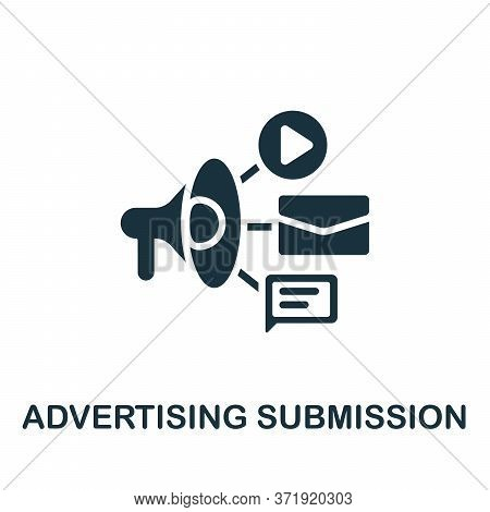 Advertising Submission Icon. Simple Element From Content Marketing Collection. Creative Advertising