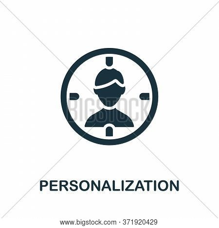Personalization Icon. Simple Element From Content Marketing Collection. Creative Personalization Ico
