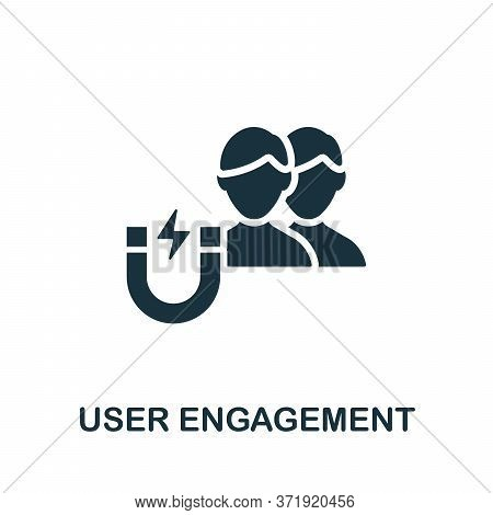 User Engagement Icon. Simple Element From Content Marketing Collection. Creative User Engagement Ico