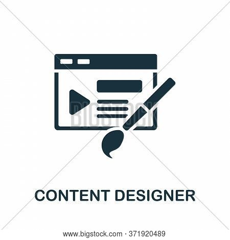 Content Designer Icon. Simple Element From Content Marketing Collection. Creative Content Designer I