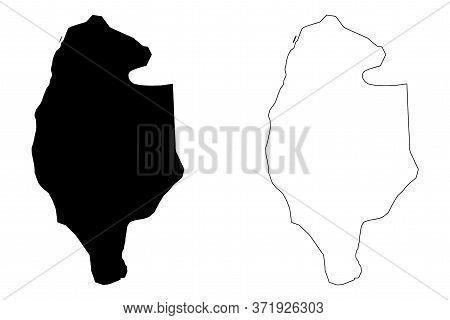 Gujrat City (islamic Republic Of Pakistan, Punjab Province) Map Vector Illustration, Scribble Sketch