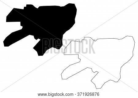 Rahim Yar Khan City (islamic Republic Of Pakistan, Punjab Province) Map Vector Illustration, Scribbl
