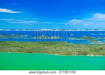 Panoramic View Of The Beautiful Ornithological Nature Park Vrana Lake (vransko Jezero) In Dalmatia,