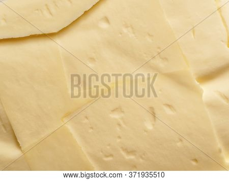 Butter Background Close-up. Macro Shooting. Top View. Close-up