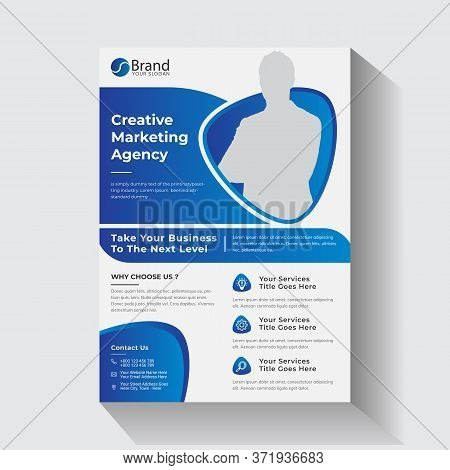 Abstract Creative Agency Flyer Corporate Business Flyer Poster Pamphlet Brochure Cover Design Layout