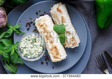Vegan Breakfast. Healthy Eating With Green Vegetables