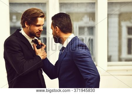 Business Conflict Situation. Partners Argue Among Themselves