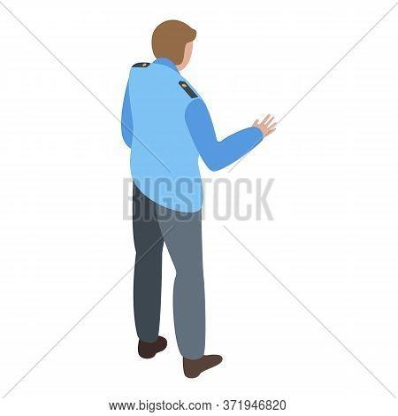 Public Personal Guard Icon. Isometric Of Public Personal Guard Vector Icon For Web Design Isolated O