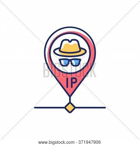 Hidden Ip Address Rgb Color Icon. Online Privacy And Anonymity, Internet Security. Hiding Personal I