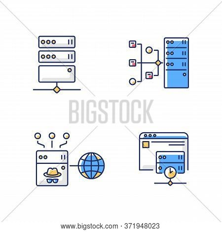 Internet Accessibility Rgb Color Icons Set. Secure Access, Protection Bypassing Service. Safe And An