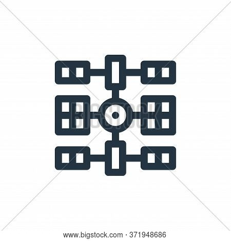 space station icon isolated on white background from  collection. space station icon trendy and mode