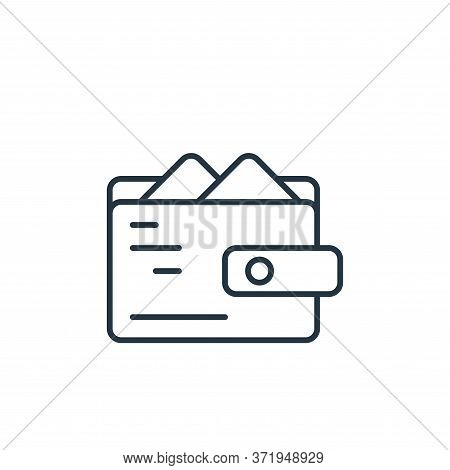 wallet icon isolated on white background from  collection. wallet icon trendy and modern wallet symb