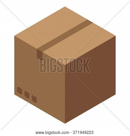 Recycle Carton Box Icon. Isometric Of Recycle Carton Box Vector Icon For Web Design Isolated On Whit