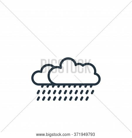 rain icon isolated on white background from  collection. rain icon trendy and modern rain symbol for