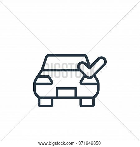 car wash icon isolated on white background from  collection. car wash icon trendy and modern car was