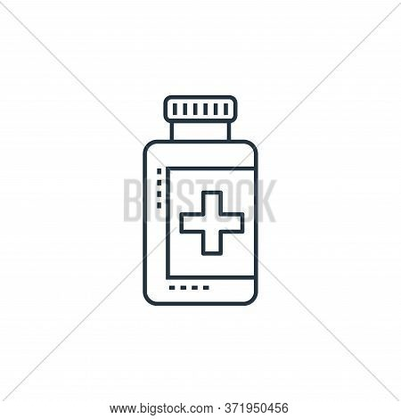 pill jar icon isolated on white background from  collection. pill jar icon trendy and modern pill ja