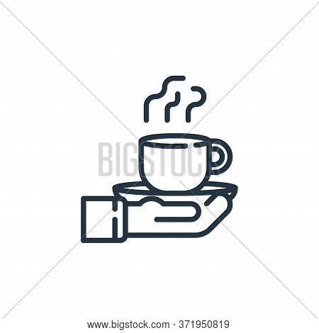 coffee icon isolated on white background from  collection. coffee icon trendy and modern coffee symb
