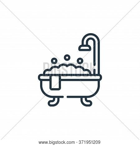 Bath Tub Vector Icon Isolated On White Background.