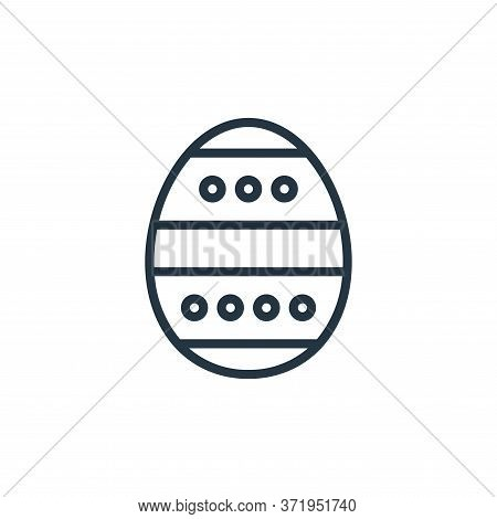 easter egg icon isolated on white background from  collection. easter egg icon trendy and modern eas
