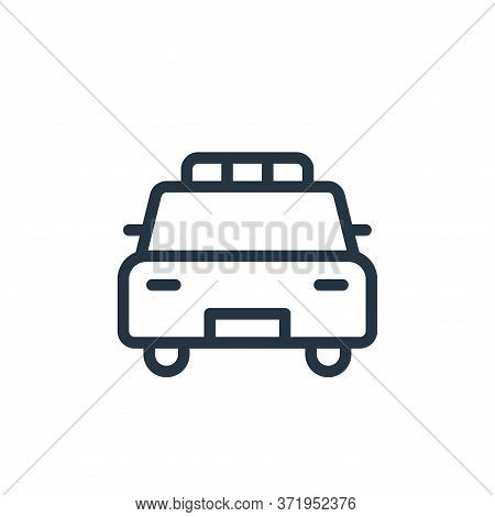 police car icon isolated on white background from  collection. police car icon trendy and modern pol