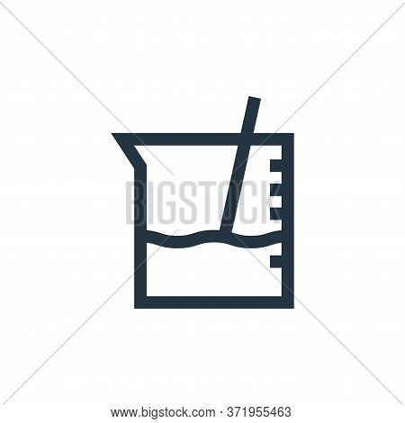 beaker icon isolated on white background from  collection. beaker icon trendy and modern beaker symb