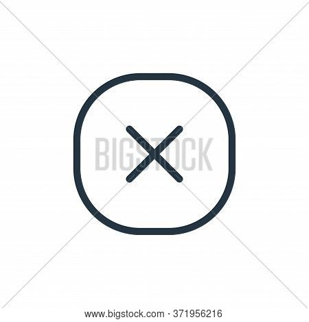 Multiplication Vector Icon Isolated On White Background.