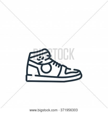 sneakers icon isolated on white background from  collection. sneakers icon trendy and modern sneaker