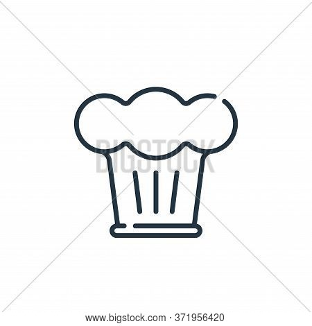 chef hat icon isolated on white background from  collection. chef hat icon trendy and modern chef ha