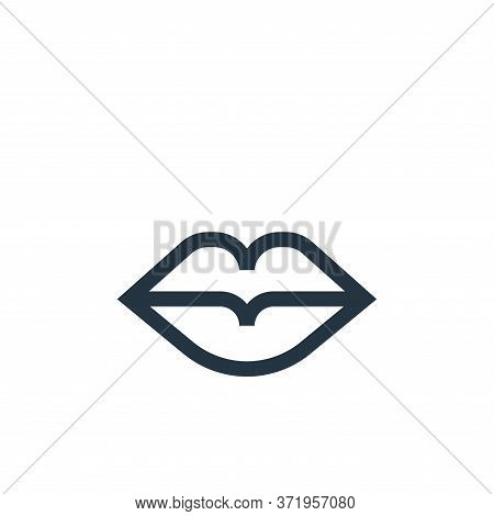 lips icon isolated on white background from  collection. lips icon trendy and modern lips symbol for