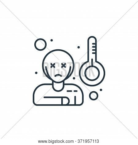 sick icon isolated on white background from  collection. sick icon trendy and modern sick symbol for