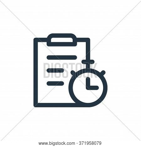 stopwatch icon isolated on white background from  collection. stopwatch icon trendy and modern stopw