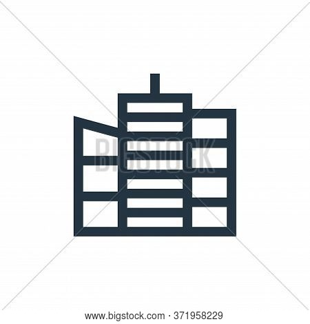 skyscraper icon isolated on white background from  collection. skyscraper icon trendy and modern sky
