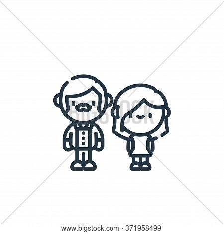 couple icon isolated on white background from  collection. couple icon trendy and modern couple symb