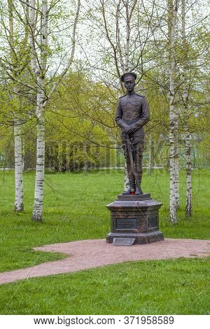 Pushkin, Russia - May 11, 2020: View Of The Monument To Prince Romanov Oleg Konstantinovich, Who Die