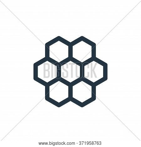 honeycomb icon isolated on white background from  collection. honeycomb icon trendy and modern honey