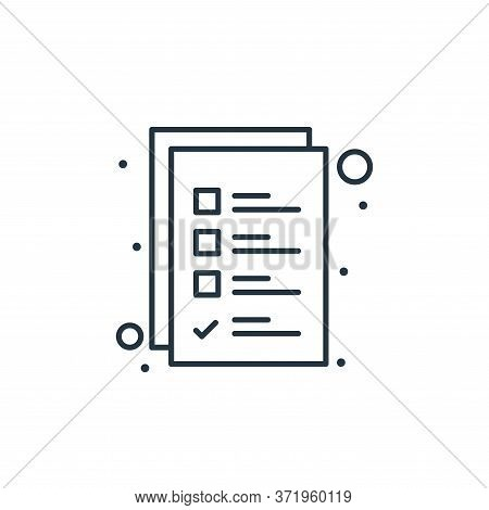 checklist icon isolated on white background from  collection. checklist icon trendy and modern check