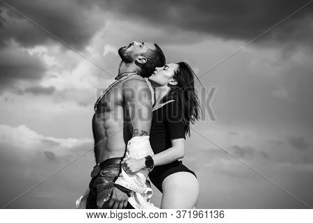 Beautiful Sexy Young Couple. Happy To Be In Love. Young Beautiful Couple In Love