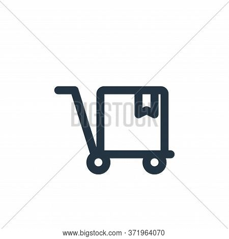 shopping cart icon isolated on white background from  collection. shopping cart icon trendy and mode